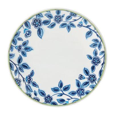 Northern Blossom Blue Floral Melamine Salad Plate
