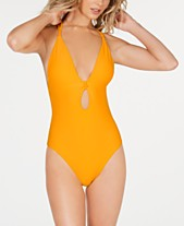 8f474aa2622 Bar III Like It Or Knot Ribbed One-Piece Swimsuit, Created For Macy's