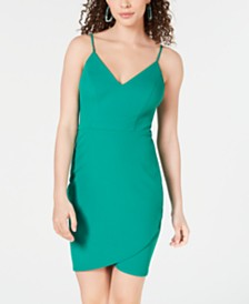 B Darlin Juniors' Cutaway Bodycon Dress, Created for Macy's