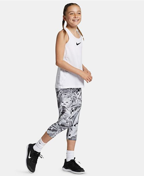 Nike Big Girls Pro Printed Capris