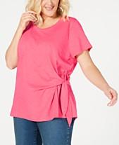 fbbcd739eea Style   Co Plus Size Side-Tie T-Shirt