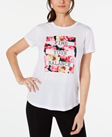 Ideology Find Your Balance Graphic T-Shirt, Created for Macy's