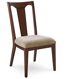 Matteo Slat Back Upholstered Side Chair, Created for Macy's
