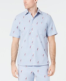 Tommy Bahama Men's Parrot Mamba Classic Fit Stretch Embroidered Camp Shirt