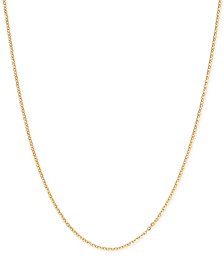 "Mirror Cable Link 20"" Chain Necklace in 14k Gold"