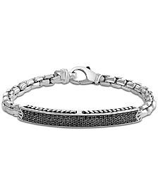 EFFY® Black Sapphire Cluster Bracelet (1-7/8 ct. t.w.) in Sterling Silver