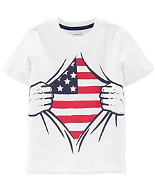 Carter's Toddler Boys Red, White & Blue Graphic Cotton T-Shirt