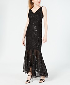Calvin Klein Embellished Mermaid Gown
