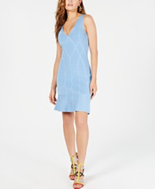 GUESS Flounce-Hem Bodycon Dress
