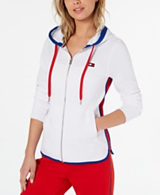 Tommy Hilfiger Sport French Terry Contrast-Trim Hoodie