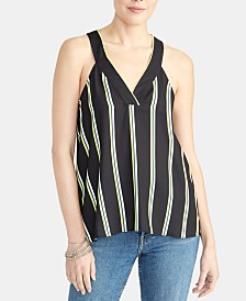 RACHEL Rachel Roy Edina Striped Racerback Tank Top
