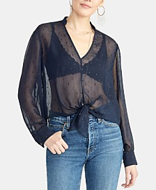 RACHEL Rachel Roy Edina Sheer Tie Top