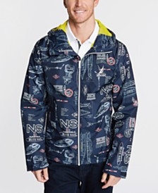 Nautica Men's Blue Sail Graphic Full-Zip Hooded Jacket, Created for Macy's