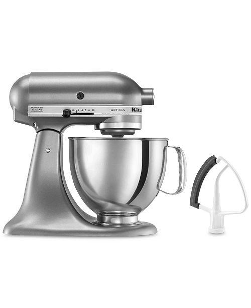 KitchenAid KSM150FE Artisan Series 5-Quart Tilt-Head Stand Mixer with Flex Edge Beater Bundle Set