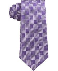 Sean John Men's Classic Linear Shadow Check Silk Tie