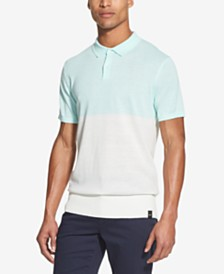 DKNY Men's Colorblocked Sweater Polo Shirt