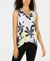 c81215a61c1 Alfani Printed Crossover-Hem Blouse, Created for Macy's