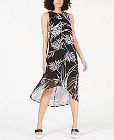 Petite Printed High-Low Dress, Created for Macy's