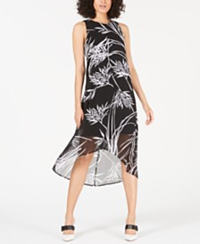 Alfani Printed High-Low Maxi Dress, Created for Macy's