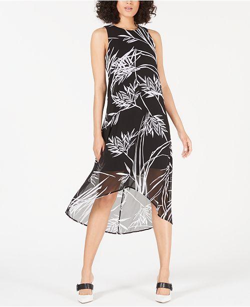 Alfani Printed High-Low Maxi Dress, Created for Macy's