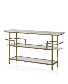 CosmoLiving by Cosmopolitan Barlow Console Unit, Soft Brass