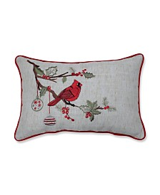 Pillow Perfect Christmas Cardinal Lumbar Pillow