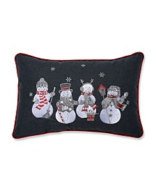 Pillow Perfect Christmas Frosty and Friends Lumbar Pillow