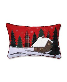 Pillow Perfect Christmas Cabin Lumbar Pillow