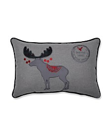 Pillow Perfect Christmas Wishes Moose Lumbar Pillow