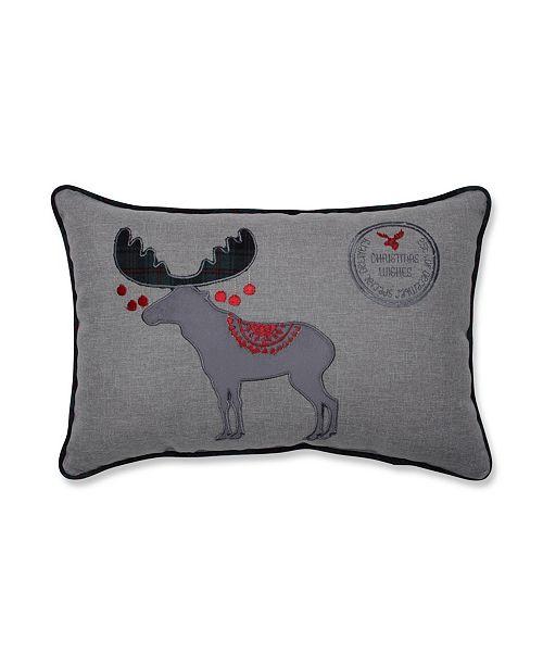 Pillow Perfect Christmas Wishes Moose Lumbar Pillow