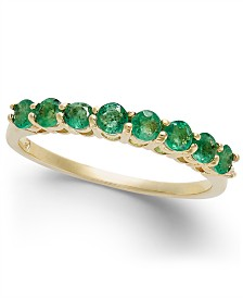 Emerald Band (5/8 ct. t.w.) in 14k Gold