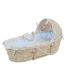 Badger Basket Unisex Natural Moses Basket with Hood