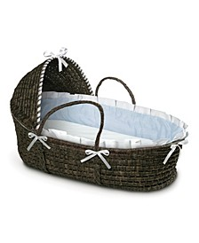 Espresso Moses Basket with Hood