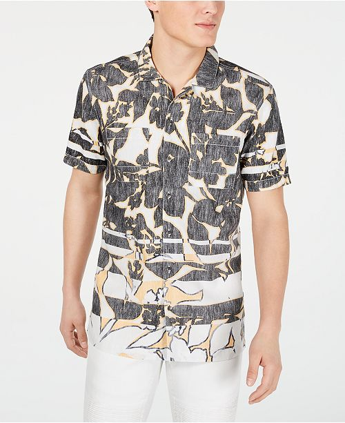 INC International Concepts INC Men's Frag Pattern Shirt, Created for Macy's