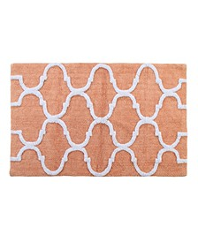 Geometric 50' x 30' Non-Skid Cotton Bath Rug