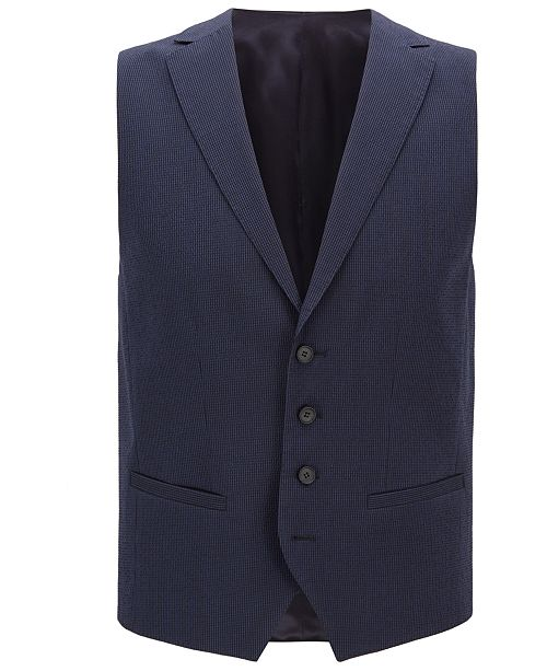 Hugo Boss BOSS Men's Seersucker Waistcoat