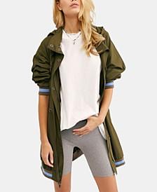 Contrast-Trim Anorak Jacket