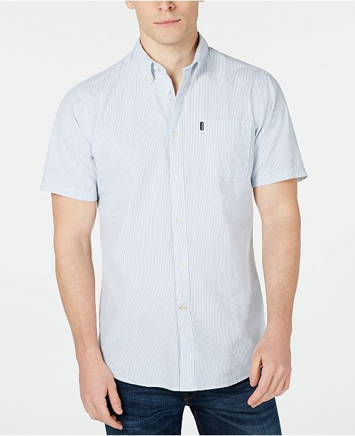 Barbour Men's Tailored-Fit Stripe Seersucker Shirt