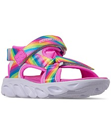 Skechers Little Girls' Hypno-Splash - Rainbow Lights Light-Up Athletic Sandals from Finish Line