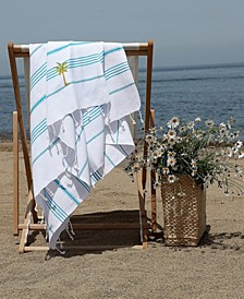 Lucky Breezy Palm Tree Pestemal Beach Towel
