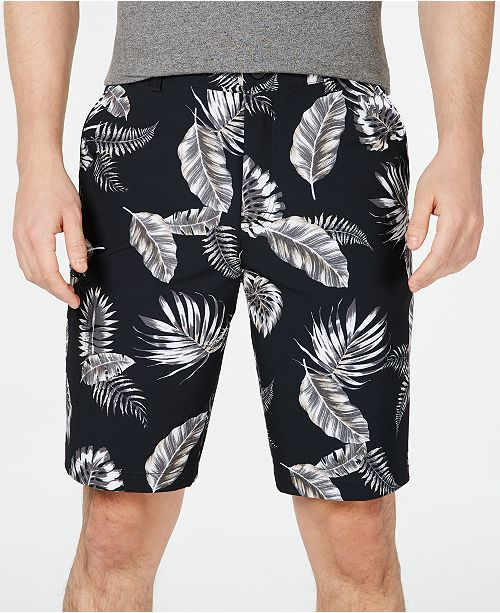 "Kenneth Cole Floral Tech 10"" Cargo Shorts"