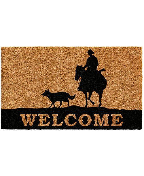 """Home & More Rancher Welcome 17"""" x 29"""" Coir/Vinyl Doormat"""