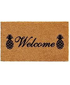 """Welcome Pineapples 17"""" x 29"""" Coir/Vinyl Doormat"""