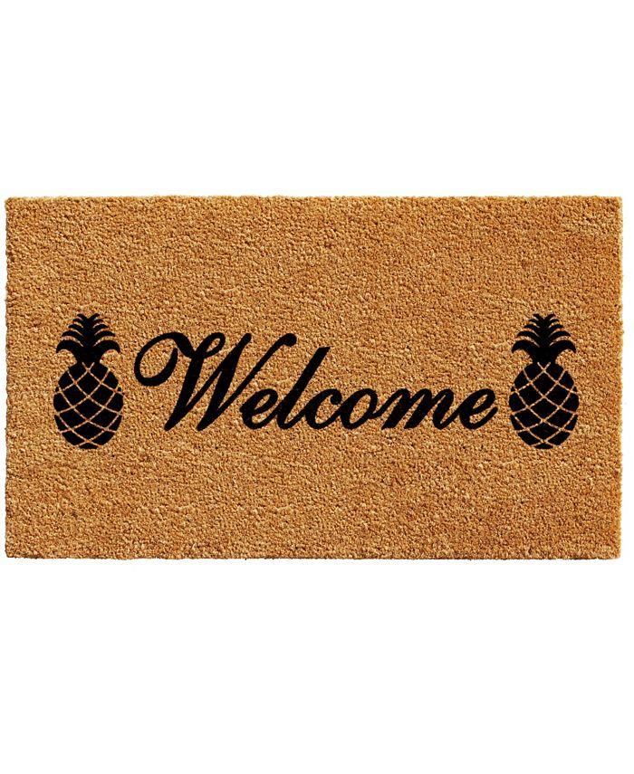 """Home & More - Welcome Pineapples 17"""" x 29"""" Coir/Vinyl Doormat"""