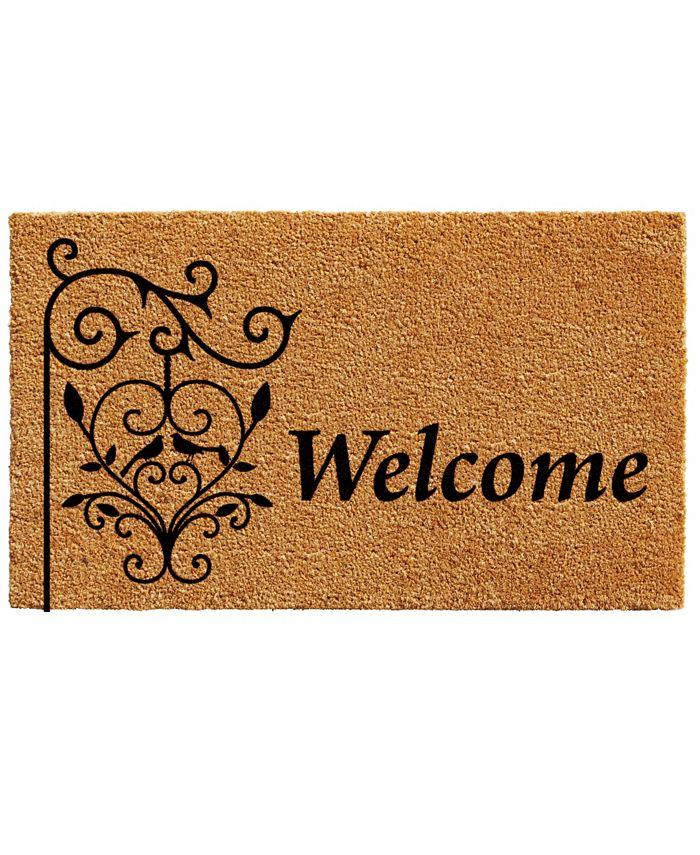 """Home & More - Welcome Post 17"""" x 29"""" Coir/Vinyl Doormat"""
