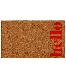 """Vertical Hello 17"""" x 29"""" Coir/Vinyl Doormat"""