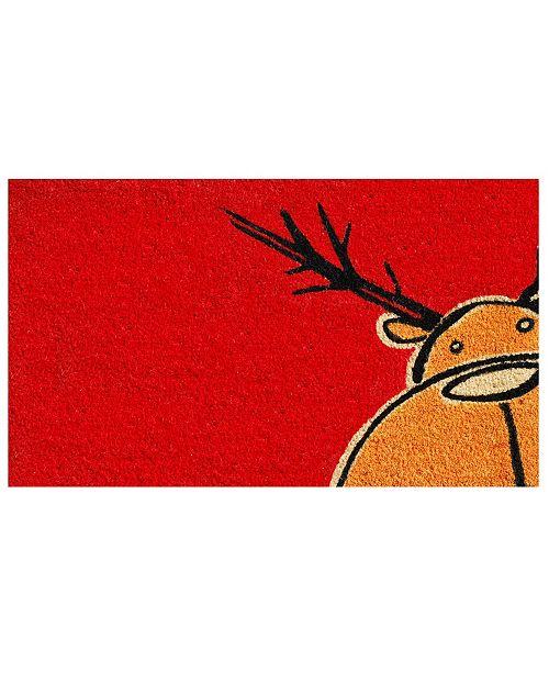 "Home & More Christmas Moose 17"" x 29"" Coir/Vinyl Doormat"