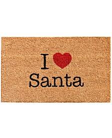 """Love Santa 17"""" x 29"""" Coir/Vinyl Doormat"""