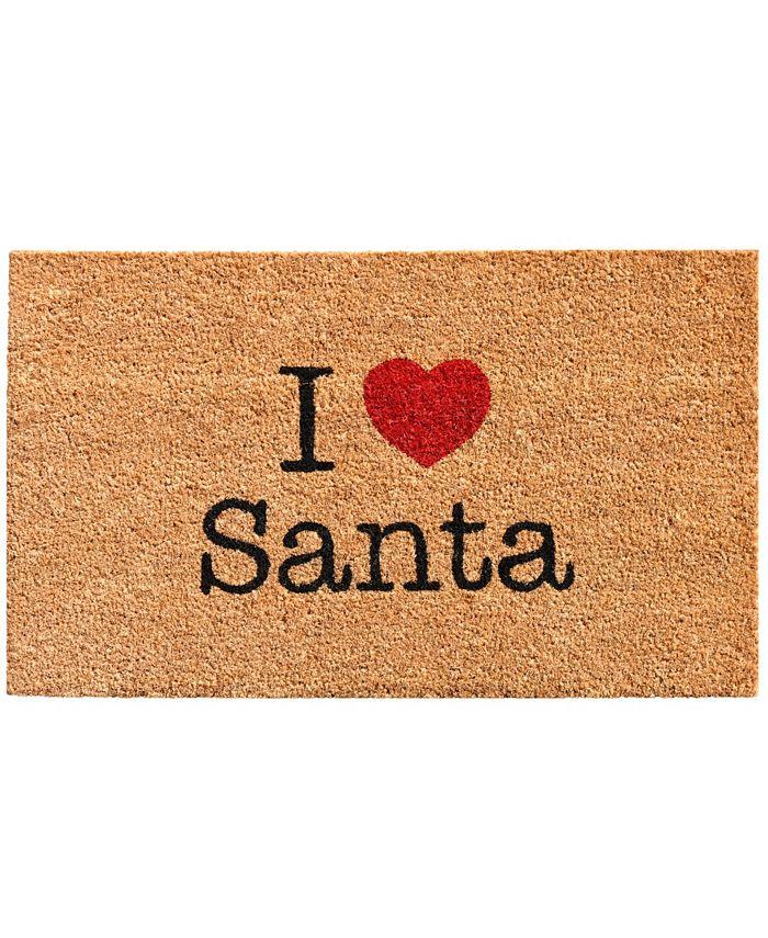 "Home & More - Love Santa 17"" x 29"" Coir/Vinyl Doormat"