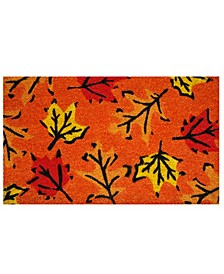 "Fall Leaves 17"" x 29"" Coir/Vinyl Doormat"